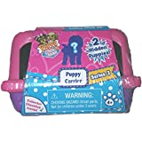 NEW 2016 Puppy In My Pocket Series 2 Mystery Puppy Carrier- PINK & PURPLE (includes 2 flocked mystery puppies in a carrier)