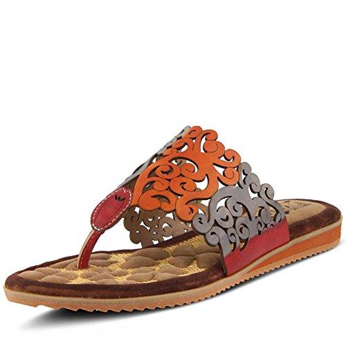 Sandal Heaven Red Womens L`Artiste Thong Multi qFftwx5w