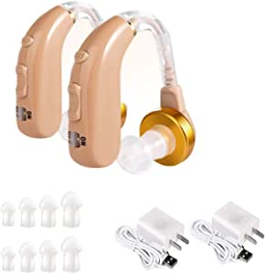 Hearing Amplifier,Rechargeable Noise Cancelling Sound Amplifier,USB Charger Hearing Amplifier for Adults and Elder
