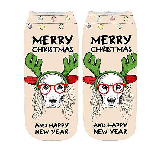 ✈HYIRI 2018 new Christmas Cotton Sock, Comfortable Slippers Short Print Ankle Socks