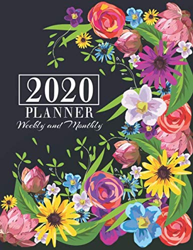 "2020 Planner Weekly and Monthly: Floral 2020 Calendar Planner 8.5""x11"" 