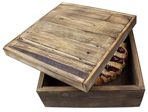 Natural Wood Pie Bread Storage Box - 14