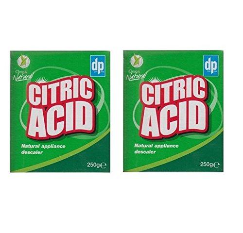 2 x DP Clean & Natural Citric Acid Natural Appliance Descaler Limescale Remover 250g