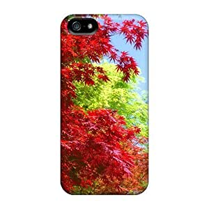 For Jamesmeggest Iphone Protective Case, High Quality For Iphone 5/5s Japanese Maple Acer Palmatum Skin Case Cover WANGJING JINDA