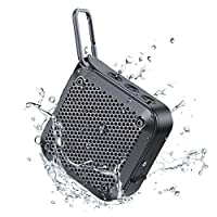 IPX7 Waterproof Bluetooth Speaker, Bluetooth Wireless Outdoor Speakers with Superior Sound & Rich Bass, TF Card/AUX, 12H Playtime, Built-in Mic, Mini Speakers for Shower, Home, Pool, Beach, Party