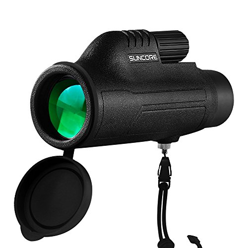ZENQAI 10X42 Compact Monocular Bright and Clear Single Hand Focus Waterproof, Fogproof For Bird Watching, or Wildlife Tripod For Hands Free Viewing Daytime Use zea-monocular