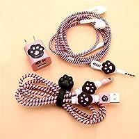 Rapidotzz 6-in-1 Multi Combo Spiral Cable Protectors + Earphones Winder + Sticker + Cable Clips + Earphone Jack Clip (P1)