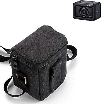 Negro K-S-Trade/® Para Sony Cyber-Shot DSC-RX0 II C/ámara Bolsa Funda De Hombro Estuche Bolso Compacto Resisten A Los Golpes Protecci/ón