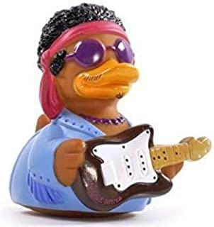 product image for CelebriDucks Purple Waves Guitar Hero - Premium Bath Toy Collectible - Rock Music Themed - Perfect Present for Collectors, Celebrity Fans, Music, and Movie Enthusiasts