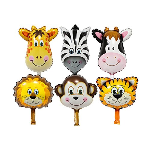 Zoo Animal balloons kit Birthday Balloons Party decorations supplies foil (Balloon Arch Frame Party City)