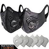 Tools & Hardware : BASE CAMP Dust Pollution Mask Activated Carbon Dustproof Mask with N99 Filters Neoprene Air Pollution Mask for Allergy Woodworking Mowing Construction Running