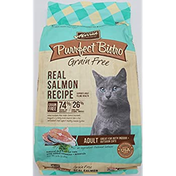 Merrick Purrfect Bistro Grain Free Real Salmon Adult Dry Cat Food, 12 lbs.