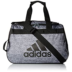 adidas Women's Diablo small duffel Bag, Onix Jersey/Black, One Size