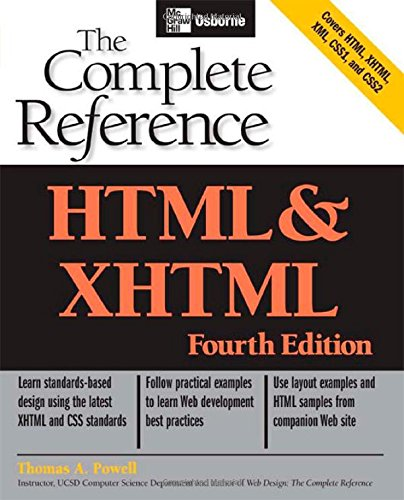 HTML & XHTML: The Complete Reference (Osborne Complete Reference Series) by McGraw-Hill Osborne Media