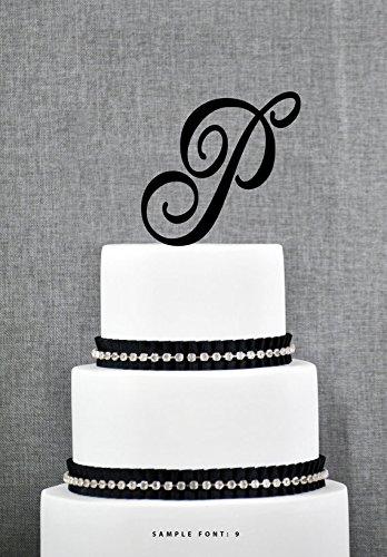 Buythrow Initial Wedding Cake Topper Letter Cake Topper A B C D E F G H I J K L M N O P Q R S T U V W X Y Z