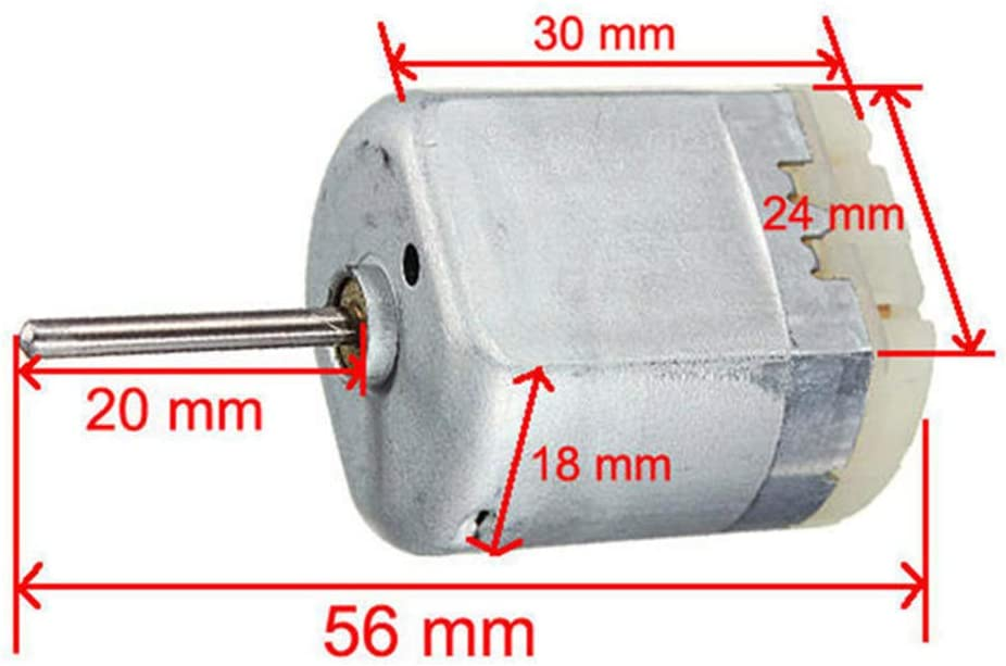 Dicrey Door Lock for Car Actuator Flat Shaft D Spindle Mini Electric Motor for Motor Repairing 3 Pack 20MM