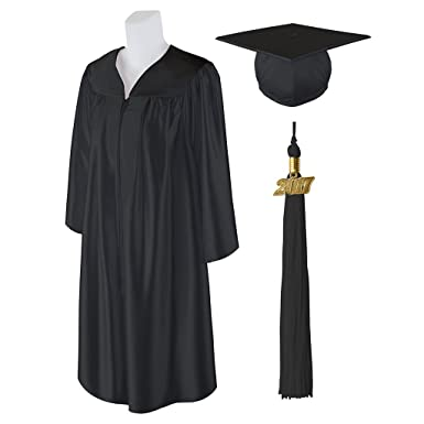 Amazoncom Standard Shiny Graduation Cap And Gown With Matching