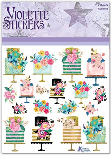 Violette Stickers Party Cakes