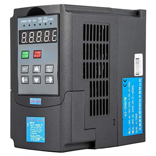 Mophorn 220V 0.75KW VFD Variable Frequency Drive CNC VFD Motor Drive Inverter Converter for CNC Router Milling Machine Spindle Motor Speed Control (0.75KW) ()