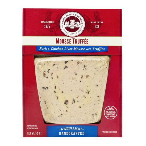 Chicken Liver Mousse with Truffles | Mousse Truffee by Les Trois Petits Cochons - 5.5 oz (Pack of 8)