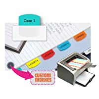 Pestañas de índice imprimibles con láser Redi-Tag, adhesivo permanente, 1-1 /8 x 1-1 /4 pulgadas, 100 pestañas por paquete, colores surtidos (33120)