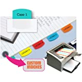Redi-Tag Laser Printable Index Tabs, Permanent Adhesive, 1-1/8 x 1-1/4 Inches, 100 Tabs per Pack, Assorted Colors (33120)