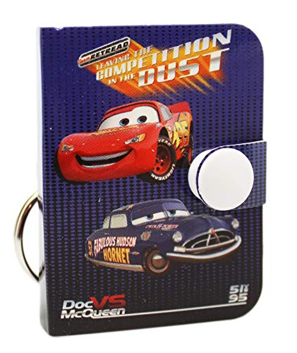 Disney Pixar's Cars Lightning and Doc Dark Violet Cover Mini Notepad Keychain