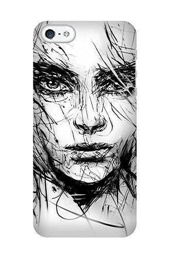 artboxONE Premium-Handyhülle iPhone 5C Girl - Motiv - Smartphone Case mit Kunstdruck hochwertiges Handycover kreatives Design Cover von Angelika