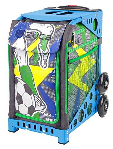 (Zuca World Cup inspired Striker roller bag- choose your frame color! (blue frame))