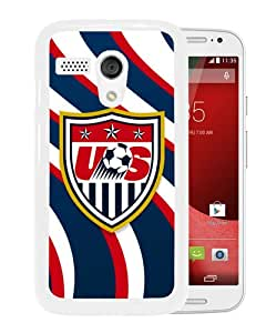 Unique And Durable Custom Designed Case For Motorola Moto G With USA Soccer 6 White Phone Case