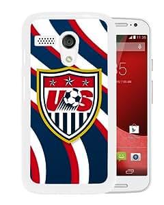 Popular Custom Designed Case For Motorola Moto G With USA Soccer 6 White Phone Case