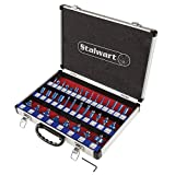"Router Bit Set- 35 Piece Kit with ¼"" Shank and Aluminum Storage Case By Stalwart (Woodworking Tools for Home Improvement and DIY)"