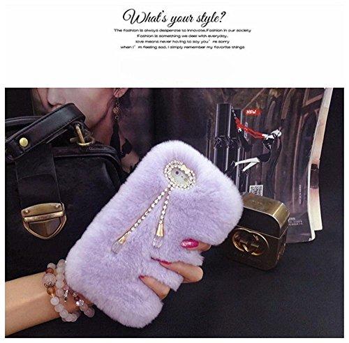 iphone-7-case-lu2000-beaver-rabbit-furry-case-with-double-pendant-series-tassels-luxury-fluff-fur-bl