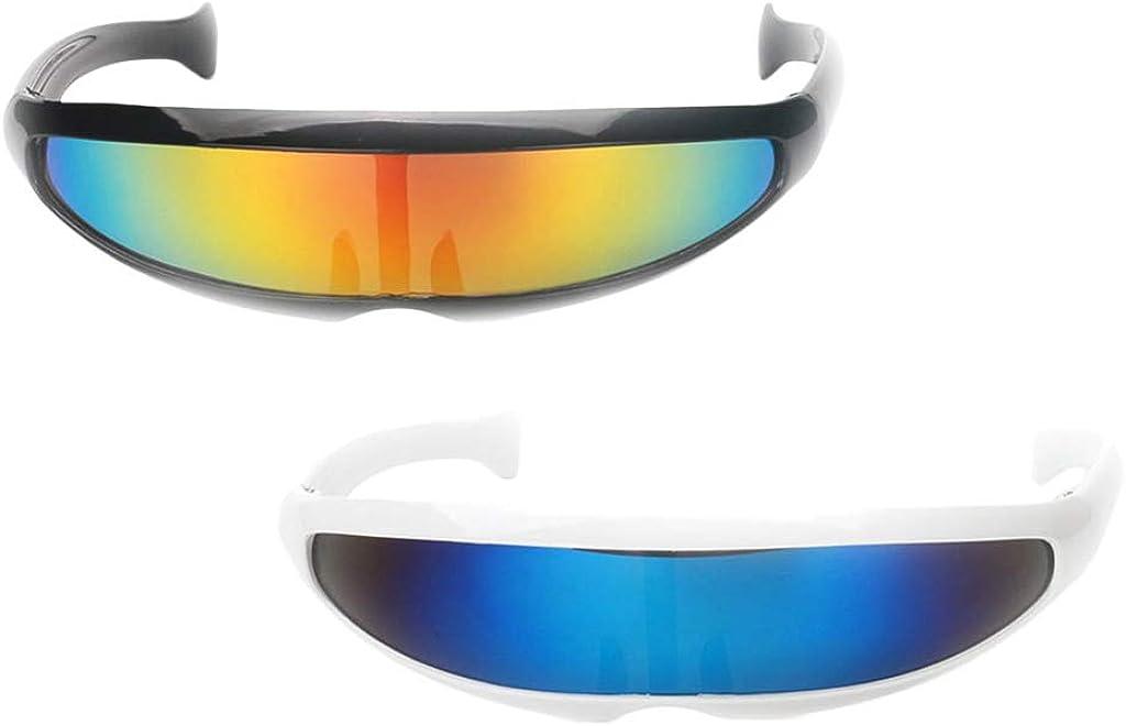 Futuristic Party Novelty Comics Sci-Fi Anime Cosplay Wrap Dark Black Sun Glasses