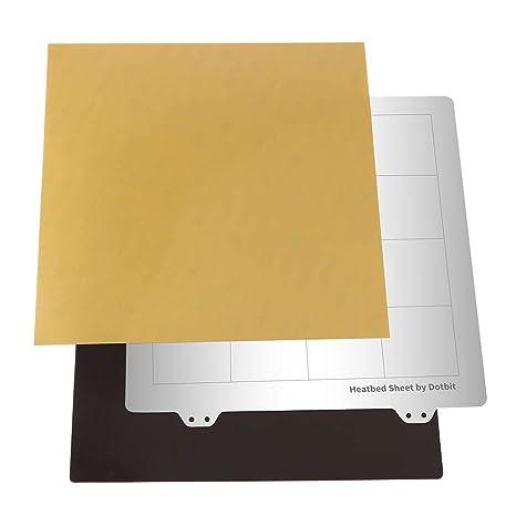 Almencla Plancha de Impresión Placa Base 235x235mm Hoja de Acero ...