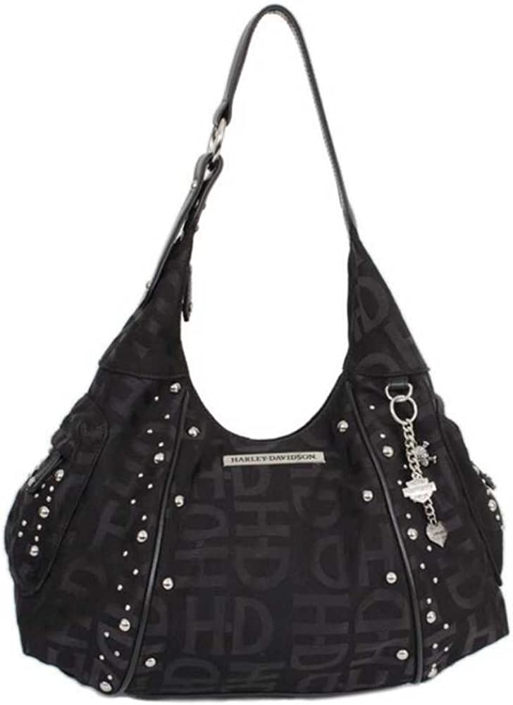 Harley-Davidson Women's H-D Jacquard Hobo Purse Black HD3426J-Black