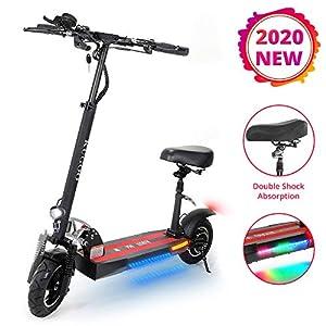 ACGAM Kugoo Kirin M4 Scooter Elettrico per Adulti, Scooter con Sedile, Display LCD del Motore da 500 W 3 modalità di…