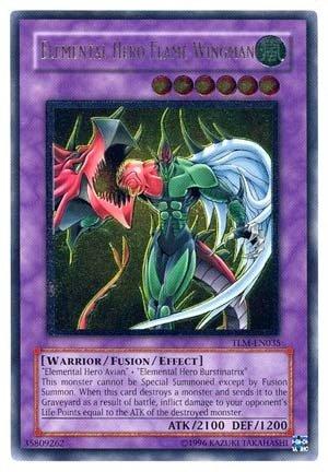 (Yu-Gi-Oh! - Elemental Hero Flame Wingman (TLM-EN035) - The Lost Millennium - 1st Edition - Ultimate Rare)