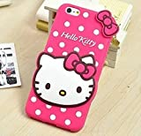 Mokons Cute Hello Kitty Silicone Mobile Phone Back Cover Case for Samsung Galaxy C7 Pro (Pink)