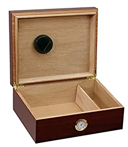 Premium Desktop Humidor - Glass Top -US Naval Construction Force (CBs, SeaBees), logo from ExpressItBest