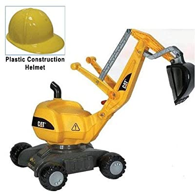 KETTLER 421015 CAT Digger with Yellow Plastic Construction Helmet: Toys & Games