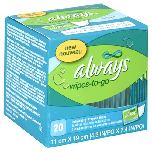 Amazon.com: Always Feminine Wipe Clean Wipes-to-go, 20-Count Packages (Pack of 12): Health & Personal Care