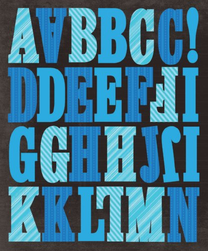 K&Company Blue Stripes Alphabet Die-Cut Stickers