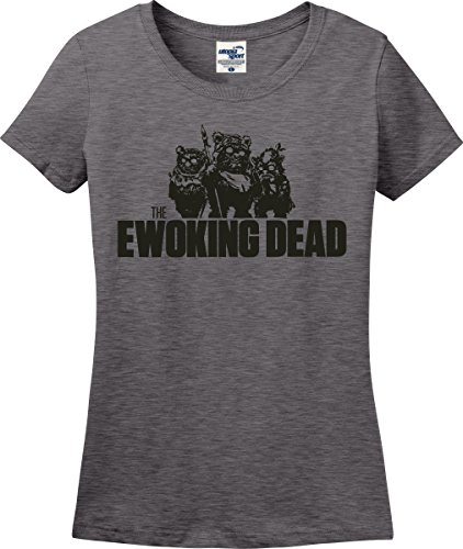 Utopia Sport The Ewoking Dead Zombie Parody Ladies T-Shirt (S-3X) (Ladies XXX-Large, Graphite Heather)