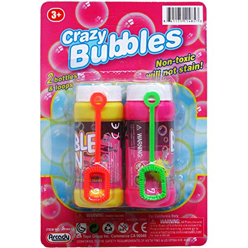 DollarItemDirect 2 pcs 3.25 inches Crazy-Bubbles Bottles & Loops on Card, Case of 48