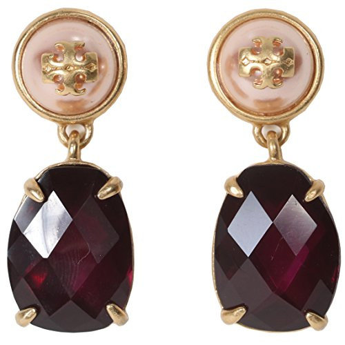 Tory Burch Earrings Epoxy Pearl Stone Earrings (Dark Amethyst - Tory Burch Rings