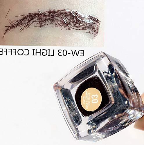 (Kaputar Beauty Eyebrow Extension Hair Fiber Enhancer Brush Eyebrow Cream Gel Tint Pen | Model MKPBRSH - 3957 |)