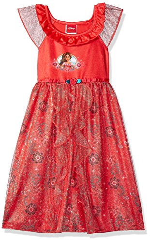 Disney Girls' Toddler Elena of Avalor Fantasy Nightgown, red as Royalty 3T