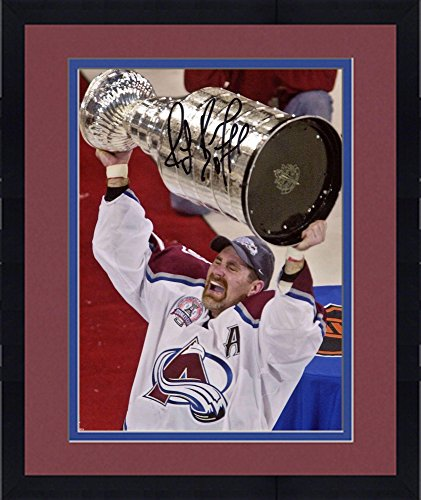 "Framed Ray Bourque Colorado Avalanche Autographed 8"" x 10"" Raising Stanley Cup Photograph - Fanatics Authentic..."