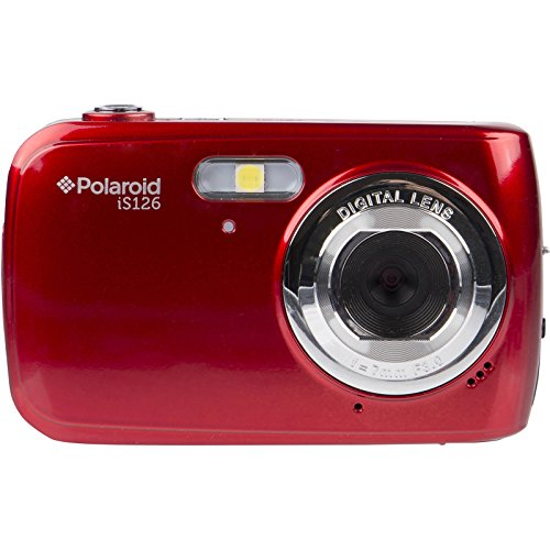 Polaroid iS126 16.1MP Digital Camera (Red) with 32GB Card + Case + Batteries & Charger + Tripod + Kit by Polaroid (Image #1)